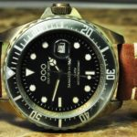 OUT OF ORDER Quartz / Brown Leather / 44mm Vintage Submarine