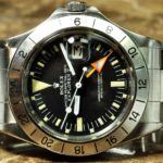 Rolex Explorer 2 Orange Hand Steve McQueen Vintage 1655 Movement - Automatic Caliber - 1570 Case - Steel 40mm Oyster Style Bracelet Dial - Black with Orange GMT hand Plastic Crystal in excellent condition Dial in excellent condition Bracelet - Excellent Condition Functions: Hours, Minutes, Seconds, Date, GMT Model: 1655 Serial: 4.3 million Year 1975 Excellent Condition with store box PreOwned Vintage Sale