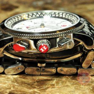 Michele Sport Sail Diamond Chronograph Women's Watch MW01c01d9001