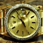 Rolex Day Date President 18038 18k Gold with Diamond Bezel Mens