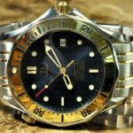 Omega Seamaster 300m Chronometer 18k Gold / Steel Automatic Box Papers Blue Dial