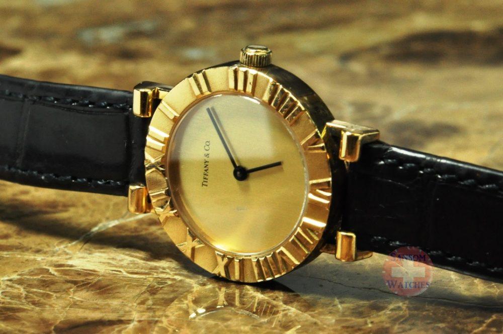 Tiffany & Co. Atlas 18k Gold Ladies Watch Philadelphia