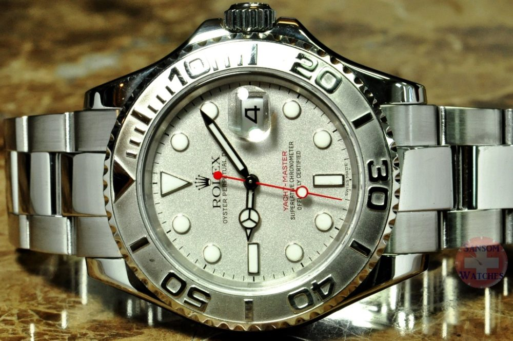 Rolex Yachtmaster Platinum & Steel 16622 Z Serial 2006 Men's
