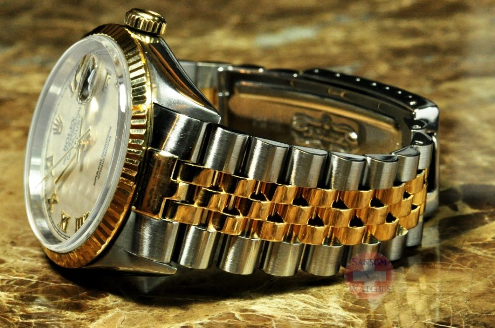 Rolex Datejust 18k Yellow Gold / Steel with Rare Pyramid Dial model 16233