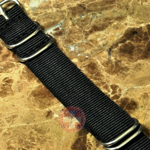 NATO Watch Strap Zulu 20mm Black