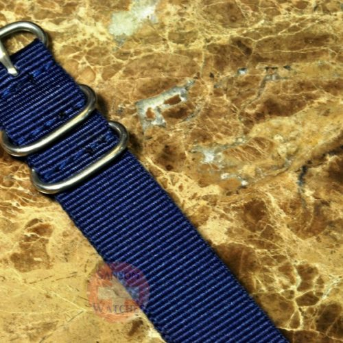 NATO Watch Strap Zulu 22mm Blue