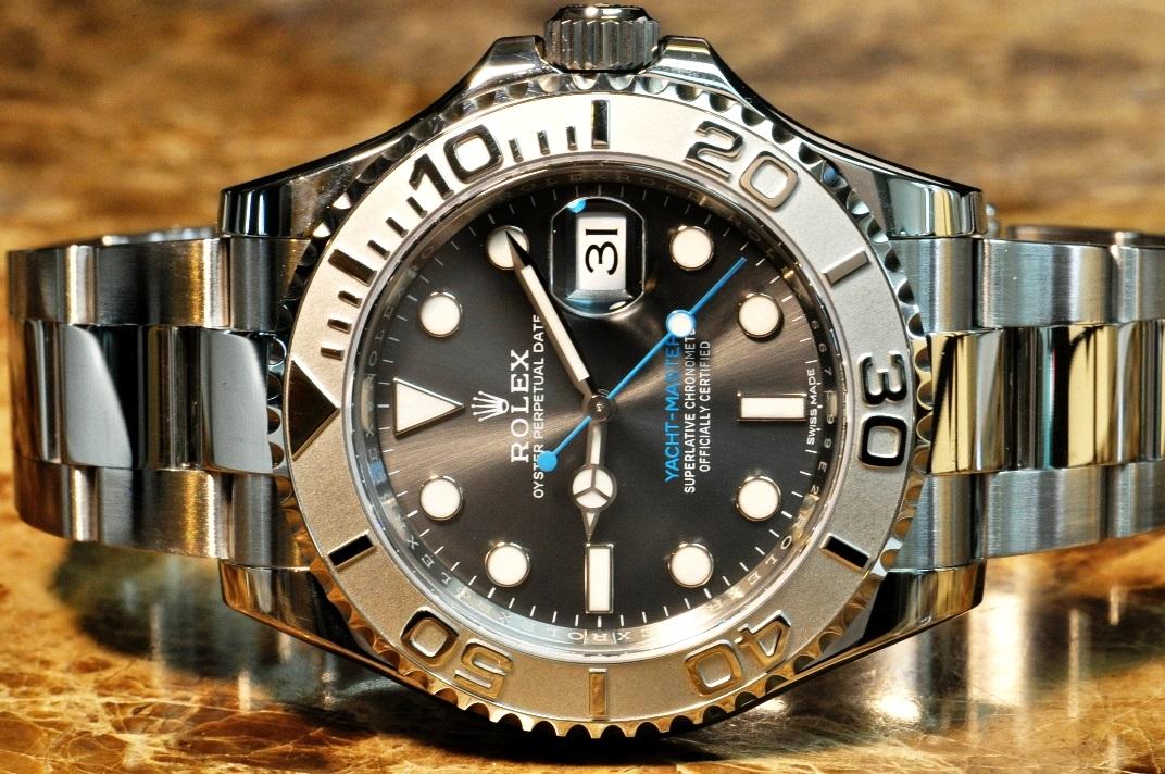 Rolex Yachtmaster Steel Amp Platinum 116622 Dkrh 40mm Dark