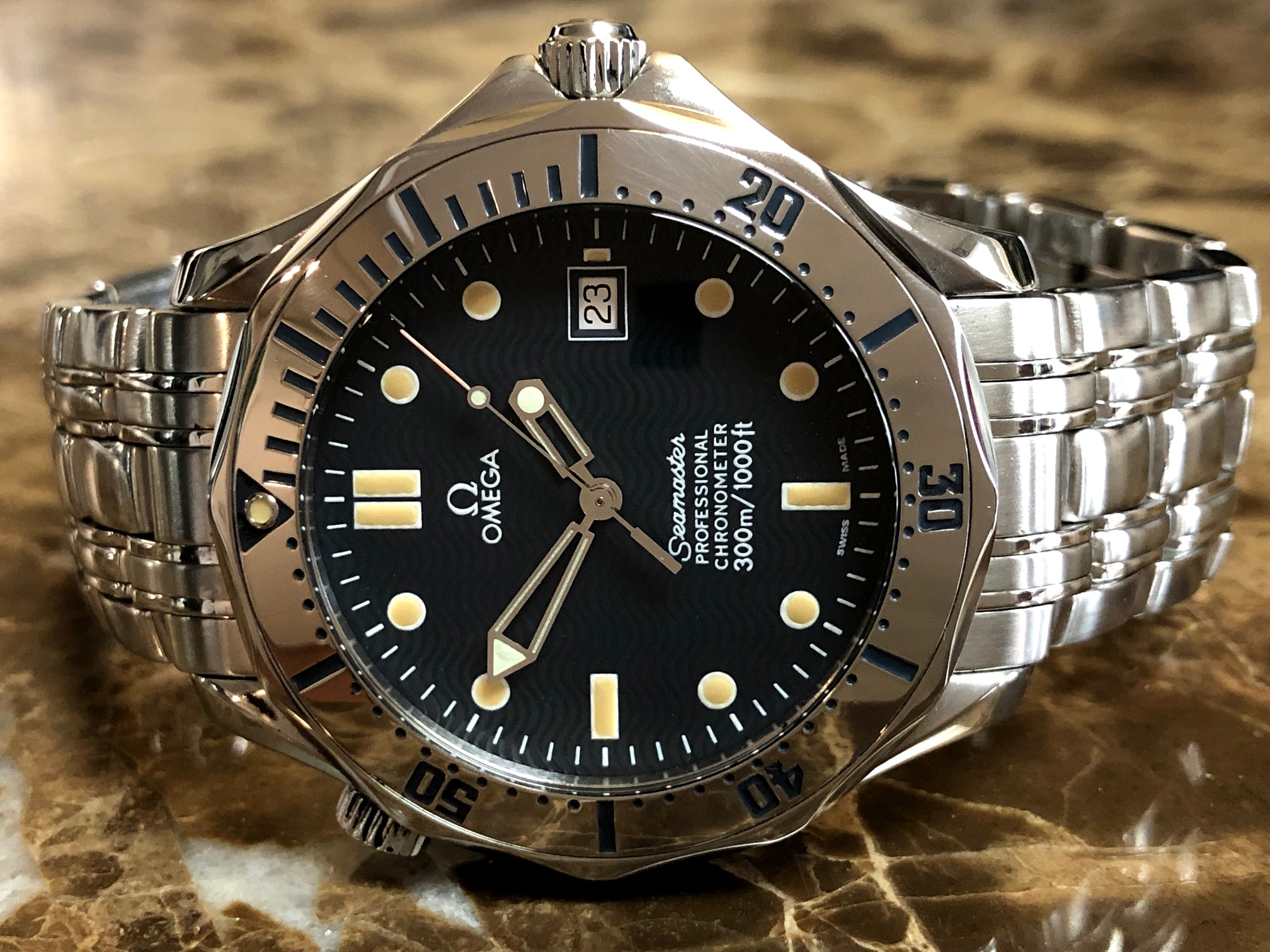 Omega Seamaster 300m Black Wave Dial 41mm Automatic 2532 80 00