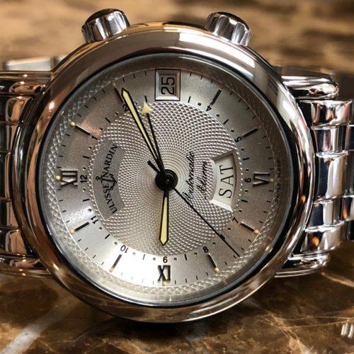 Ulysse Nardin San Marco Alarm Stainless Steel Silver Dial 603-77